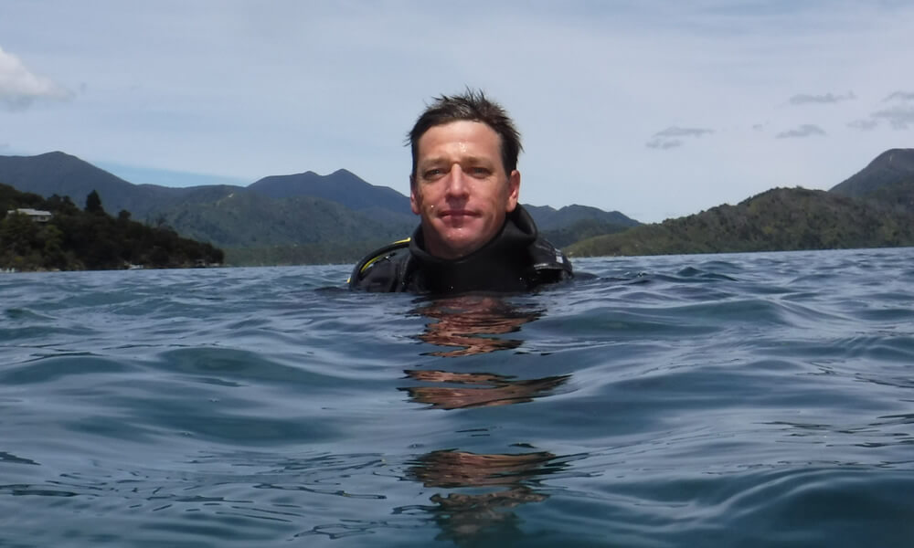 Bryan Bailey - Diving Instructor At Blenheim Dive Centre Marlborough