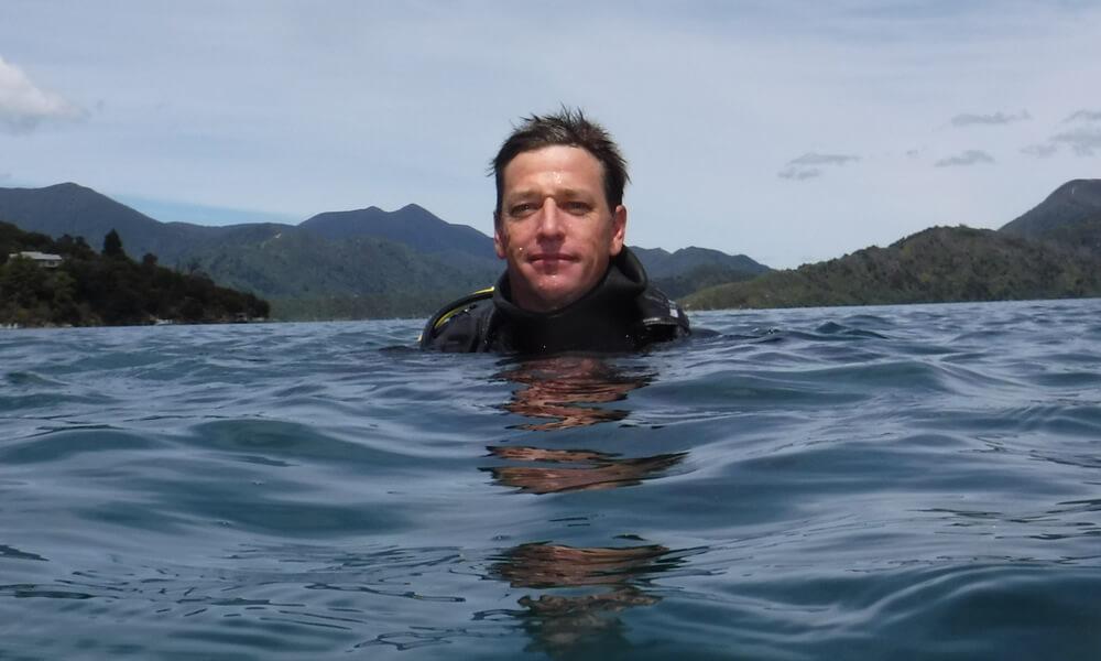 Bryan Bailey - Diving Instructor At Blenheim Dive Centre Marlborough